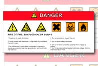 Danger label template