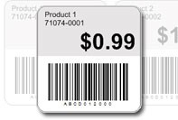 Price tag with barcode