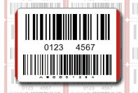 Double barcode label