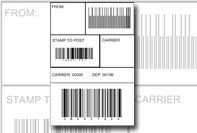 Code barcode label template