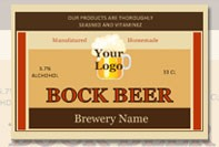 Bock beer labels