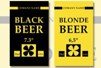 Blonde bier labels
