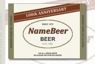 Modelo de etiqueta de cerveja personalizada