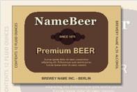 Rótulo personalizado para a cerveja