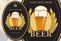 etiqueta da cerveja profissional