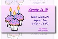 Modelo do convite do aniversário