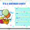 Modelo da festa de aniversário