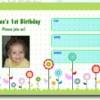 Primera plantilla de la invitación del cumpleaños