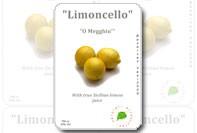 Limoncello flaskans etikett