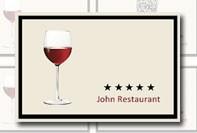 Restaurant carte de visite