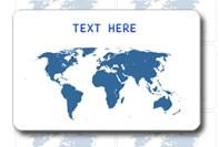 Aangepaste kaart Wereld