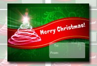 Etikett för julklapp