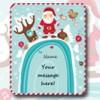 Etichetta Natale con messaggio