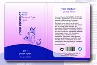 Custom cosmetic label