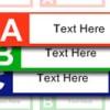 Etiquetas de pastas de arquivo simples