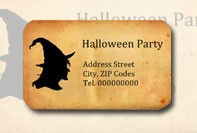 Witch label for Halloween
