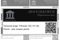 Museum labels