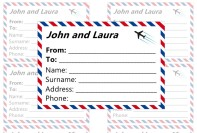 Luggage airmail labels