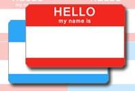 Einfache Namensschild