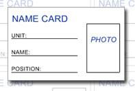 Namn kort med foto
