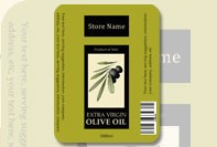 Olive oil labels to print