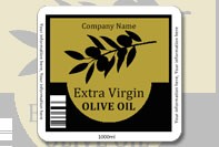 Square olive oil label