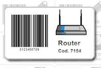 Etichetta prezzo router