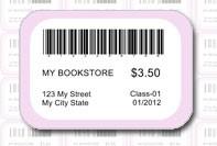 Etichetta personalizzata bookstore