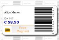 Etichetta barcode e prezzo