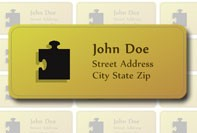 Address label with logo