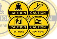 Waarschuwings-stickers