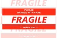 Fragile étiquette d'expédition