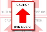 Etiqueta de alerta para o transporte