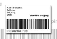 étiquette d'expédition avec code à barres