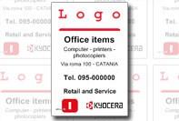 Sticker labels met logo