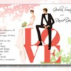 Love invitation for wedding
