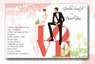 Love invitation for wedding